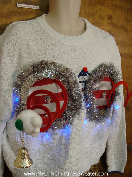 Snowman Pullover Naughty Ugly Christmas Sweater With Funny