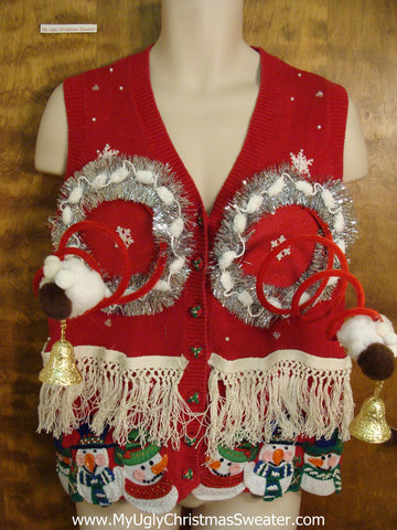 Ridiculous Horrible Ugly Christmas Naughty Sweater Vest
