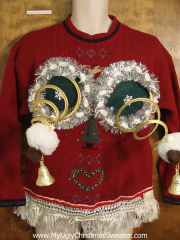 Corny Red Ugly Christmas Jumper Naughty Sweater