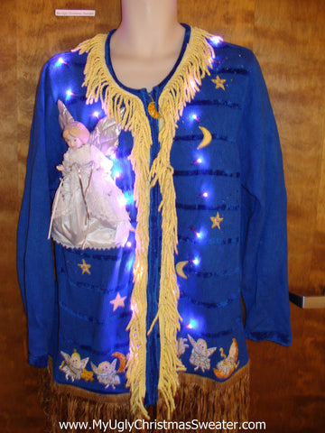 Over the Top Ridiculous Ugly Christmas Sweater with Lights