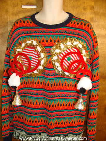 Horrible Pattern Mens 80s Ugly Christmas Jumper Naughty Sweater