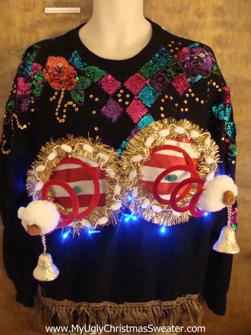 Bling Alert Amazing Ugly Xmas Naughty Sweater Funny Gift