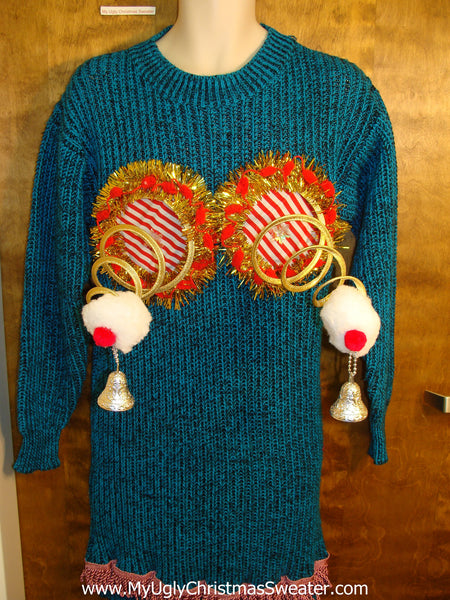 Ugly Christmas Jumper Naughty Sweater Dress
