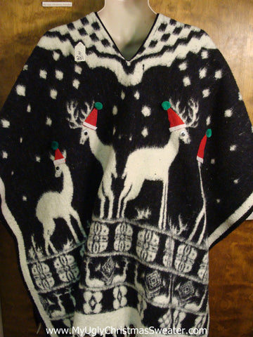 Ugly Christmas Sweater Cape for Men 2XL 3XL 4XL and Bigger