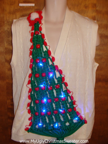 Best Funny Light Up Macrame Tree Ugly Christmas Sweater