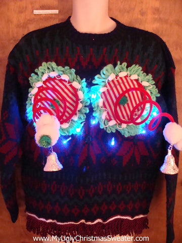 Nordic 2sided Funny Light-up Naughty Ugly Christmas Sweater