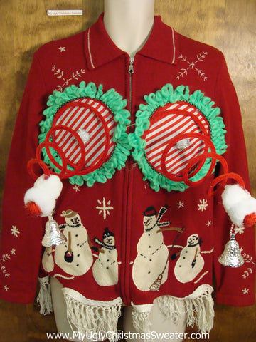 Funny Red Naughty Ugly Christmas Sweater