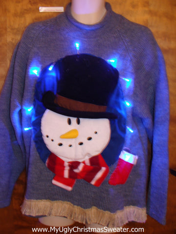 Funny 3D Mens Ugly Christmas Sweater with Lights