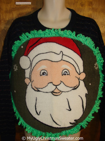 Mens Funny Happy Snowman Ridiculous Sweater