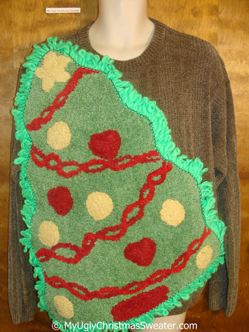 Funny Obnoxious Ugly Christmas Sweater with Oversized Tree