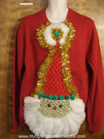 Best Crafty 3D Santa Ugly Christmas Sweater