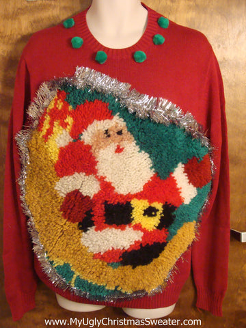 Santa Hook Rug Best Ugly Christmas Sweater