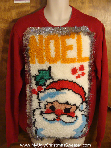 NOEL Santa Best Ugly Christmas Sweater