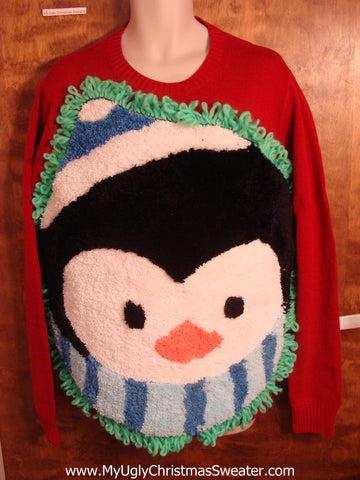 Fluffy Penguin Best Ugly Christmas Sweater