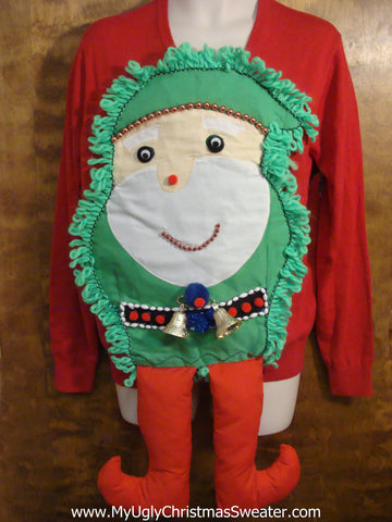 Best Ever 3D Elf Ugly Christmas Sweater