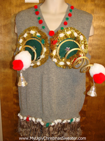 Naughty Christmas Sweater Vest 3D Funny Ugly Winner