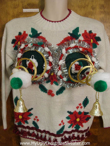 Funny 80s Naughty Ugly Christmas Sweater
