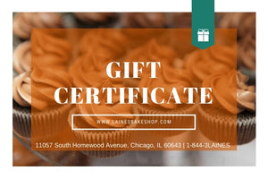 'Laine's Bake Shop Gift Card
