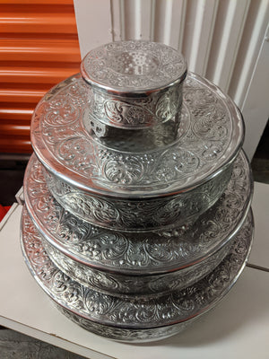 Round - Four-Tiered Cake Stand