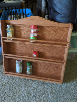 Handcrafted Wooden Spice Rack