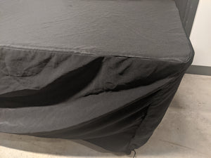 Black Floor Length Table Cloth