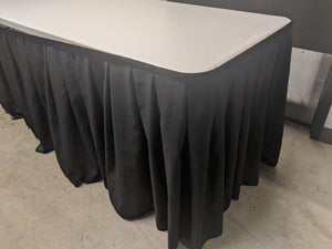 Black Table Skirt