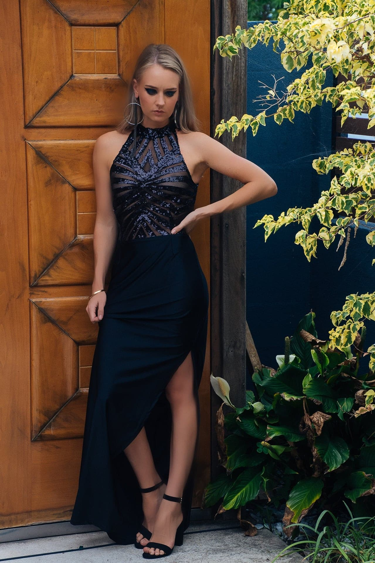 kortni-portia | LEXI Geometric Satin Formal Dress | Dress.