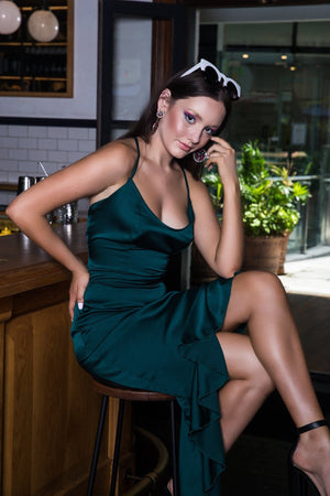 Beverley Dress Forest Green kortni-portia