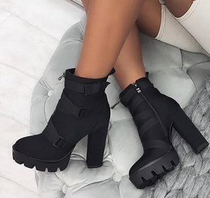 kortni-portia | LARA Chunky Combat Ankle Boot | Women - Shoes - Pumps.