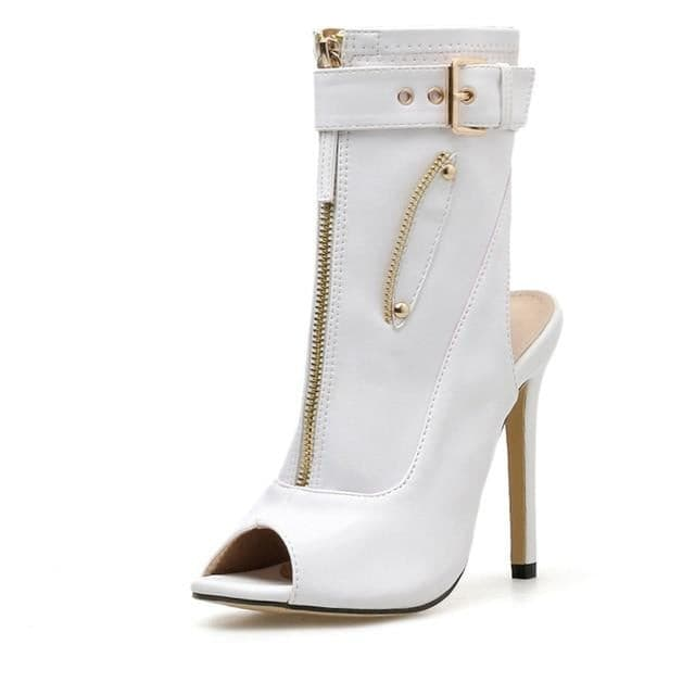 MANDY Buckle Up Ankle Stiletto Boots kortni-portia.
