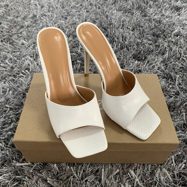 kortni-portia | TINA Square Toe Mule Heels | Women - Shoes - Party & Evening.
