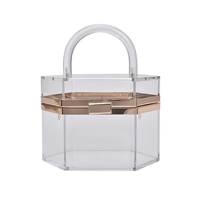 kortni-portia | GIANNA Acrylic Transparent Evening Clutch | Women - Bags - Other.