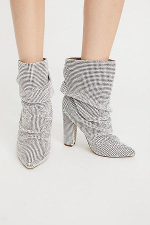 kortni-portia | BROOKLYN Rhinestone Ankle Boots | Women - Shoes - Party & Evening.