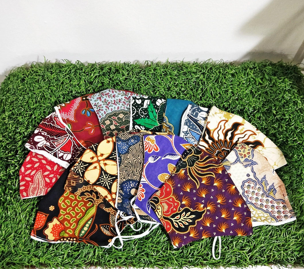 Reusable Adult Cotton Batik Cloth Face Mask