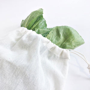Unbleached Organic Raw Cotton Grocery Produce Bags