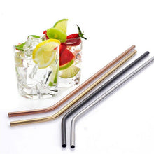 Load image into Gallery viewer, Reusable Stainless Steel Curved Straw