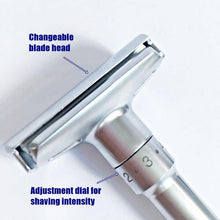 Load image into Gallery viewer, Qshave Chrome Plated Safety Shaving Razor