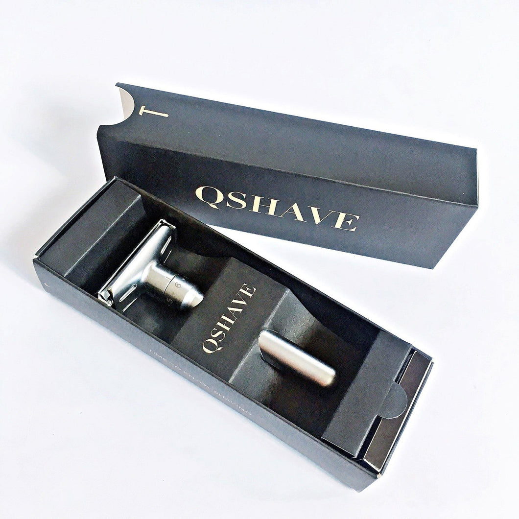 Qshave Chrome Plated Safety Shaving Razor
