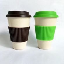Load image into Gallery viewer, Reusable Bamboo Fibre Coffee cup
