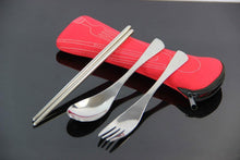 Load image into Gallery viewer, Stainless Steel 4-piece Cutlery Travel Set