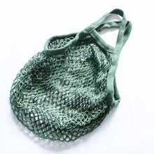 Load image into Gallery viewer, Reusable Cotton Crochet Mesh Grocery Bag