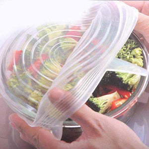 Round Silicon Food Suction Wrap Covers