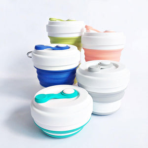 Reusable Silicon Collapsible Drinking Cup - TroveofGaia