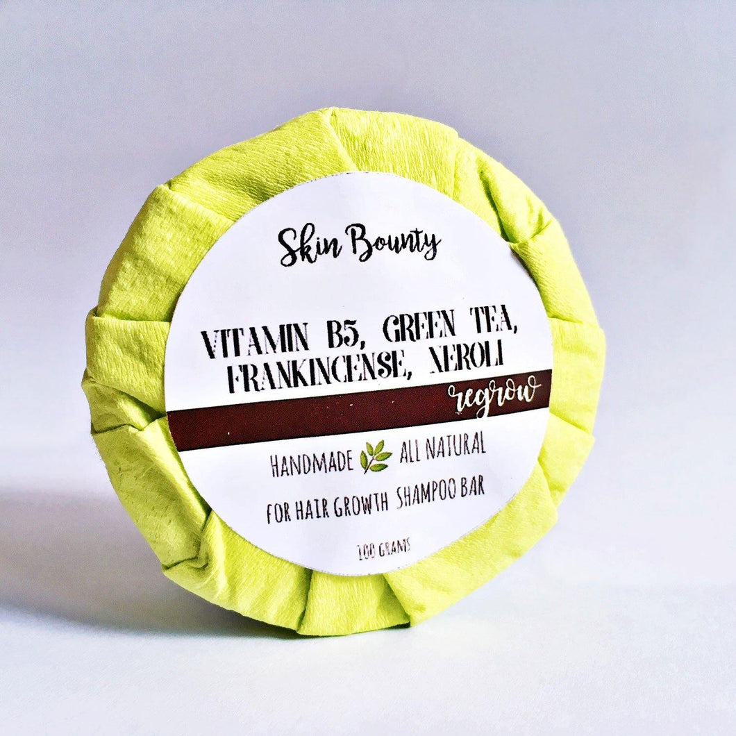 Skin Bounty Green Tea & Vitamin B5 Shampoo Bar (for Hair Growth) - TroveofGaia