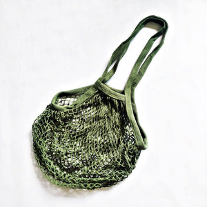 Cotton Mesh Shopping Bag (Long Handle) - TroveofGaia