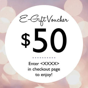E-Gift Vouchers (Various cash value available)