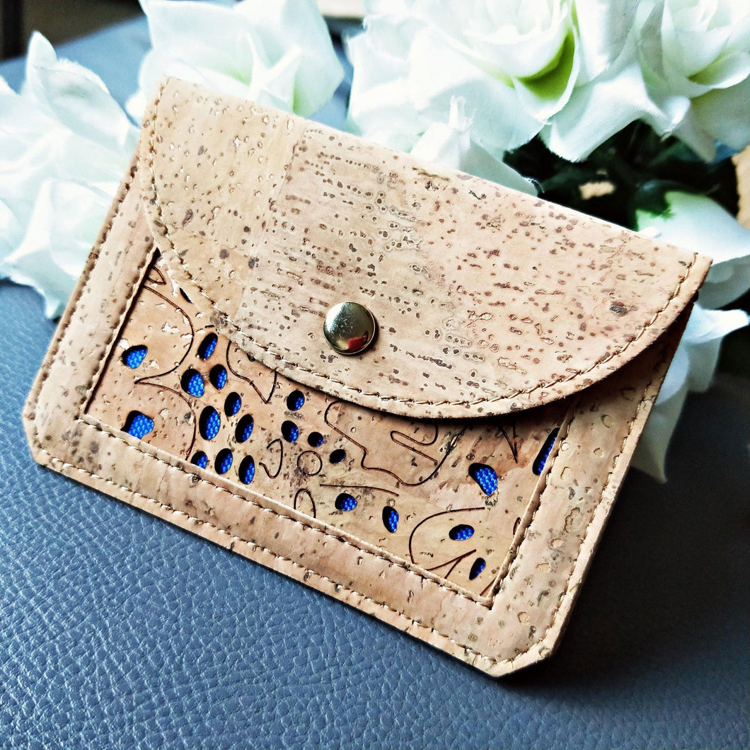 Natural Cork Coin Pouch & Card Holder