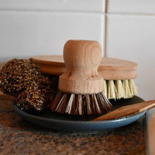 Load image into Gallery viewer, Bamboo handle Veggie and Pot Scrubbing Brush