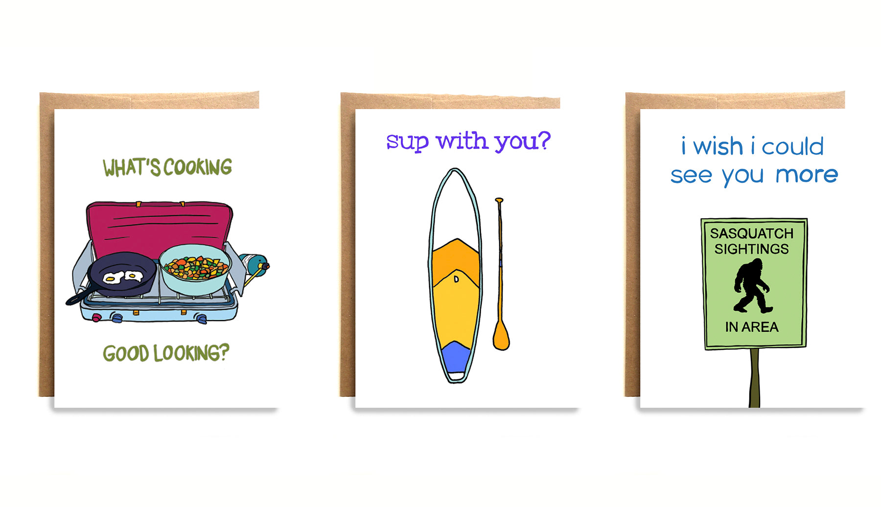 Funny greeting cards from Compass Paper Co