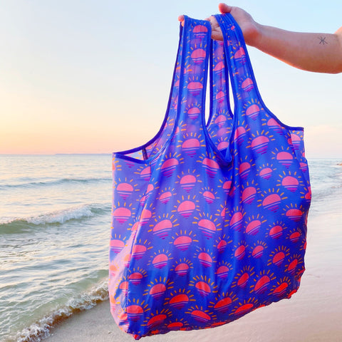 Reusuable shopping bags from Compass Paper Co